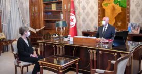 Tunisian leader names new PM with little experience at crisis moment