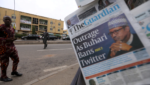 """The Guardian cover """"Outrage as Buhari bans Twitter"""""""